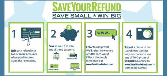 Save Your Tax Refund & Win $10,000
